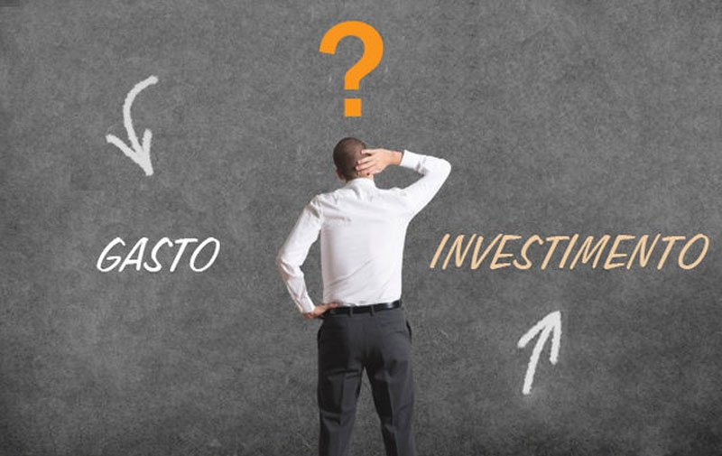 Diferencie gasto de investimento - Motivaplan
